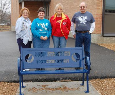 Countryside Eagles #4286 donate a buddy bench for the Elementary Playground