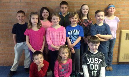 Elementary Students of the Month, March